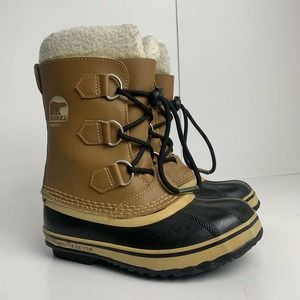 sorel waterproof lace up snow boots
